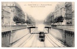 CPA 75 PARIS 17e Train à Vapeur De La Petite Ceinture Boulevard Péreire Pont De La Rue Guersant Ed. CADOT N° 2061 - District 17