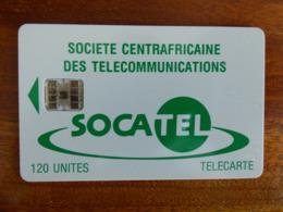 Télécarte De La République Centrafricaine - SC7 - Numéros Rouges Au Verso - Repubblica Centroafricana