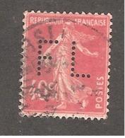 Perfin/perforé/lochung France No 194 FL Sté Générale De Force Et Lumière - Francia