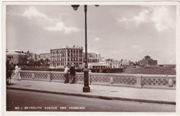 Liban : BEYROUTH : Avenue Des Français ( Carte Photo ) - Líbano