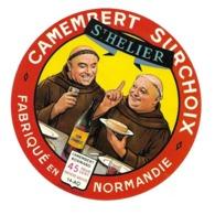 ETIQUETTE De FROMAGE..CAMEMBERT Fabriqué En NORMANDIE ( Calvados 14)..St HELIER...MOINE - Formaggio