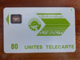 Télécarte De Djibouti - 80U - SC4 An - 6mm - Sans Numérotation Et Logo Moreno - Djibouti