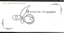 Bloc Souvenir N°145 Marianne L'Engagée N++ Sous Blister - Souvenir Blocks