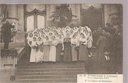 CPA Limoges (87) M. R. Poincaré à Limoges (8 Et 9 Septembre 1913) Le Choeur Des Barbichets N°6 - Limoges