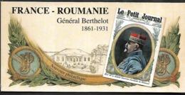 Bloc Souvenir N°150 France-Roumanie Général Berthelot N++ Sous Blister - Blocs Souvenir