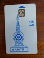 """Télécarte De Gambie - 125U - SC5 ISO - 6mm - 5 GE Dont Le """"0 à L'envers"""" - Gambia"""