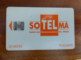 Télécarte Du Mali - 20U - SC7 ISO - Sans Trou - Numéros Rouges C46145512 - Mali