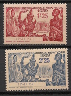 Inini - 1939 - N°Yv. 29 à 30 - Exposition De New York - Neuf Luxe ** / MNH / Postfrisch - Inini (1932-1947)