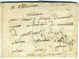 BRIVIESCA  1810 ARMEE D ESPAGNE N° 24  Lettre Vers France - España