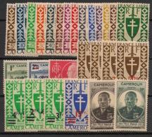 Cameroun - 1941-45 - N°Yv. 249 à 275 - Complet - 27 Valeurs - Neuf * / MH VF - Kamerun (1915-1959)