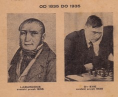 """CHESS Magazine 1935 - La Bourdonnais, Dr. EVE - """"World Chess Championship"""" NOT POSTCARD 16 Pages (see Sales Conditions) - Scacchi"""