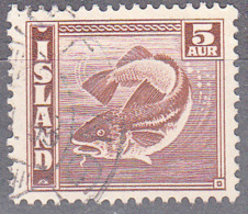 ICELAND    SCOTT NO 219   USED    YEAR  1939 - Used Stamps