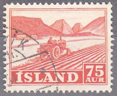 ICELAND    SCOTT NO 262    USED    YEAR  1950 - Usati