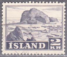 ICELAND    SCOTT NO 267    USED    YEAR  1950 - Usati