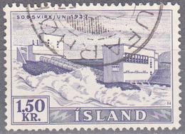 ICELAND    SCOTT NO 292    USED    YEAR  1956 - Usati