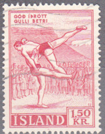 ICELAND    SCOTT NO 300    USED    YEAR  1957 - 1944-... Repubblica