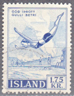 ICELAND    SCOTT NO 301    USED    YEAR  1957 - Usati