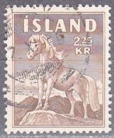 ICELAND    SCOTT NO 312    USED    YEAR  1958 - Usati