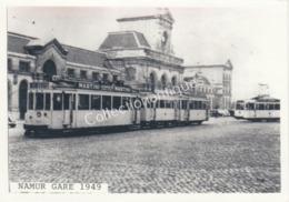Photographie Retirage Tram Namur Gare 1949 - Places