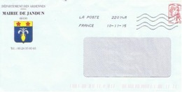 08 - MAIRIE De JANDUN (avec Timbre) - Entiers Postaux