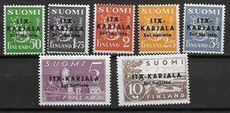 Finlande Occupation De La  Carélie Orientale 1941 N°1/7 Neufs ** MNH - Finland