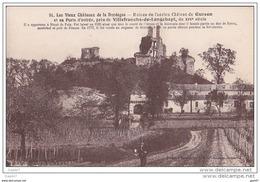 Cpa Réf-JP-Q-036 ( Dép-24 Près De VILLEFRANCHE-de-LONGCHAPT ) Ruines Du Château De GURSON      Facteur - Other Municipalities