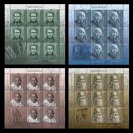 Moldova 2019 Mih. 1119/22 Louis Braille. Albert Einstein. Mahatma Gandhi. Leonardo Da Vinci (4 M/S) MNH ** - Moldawien (Moldau)