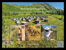 Kyrgyzstan (KEP) 2019 Mih. 140/42 (Bl.39) Fauna. Beekeeping In Kyrgyzstan. Bees MNH ** - Kirgisistan