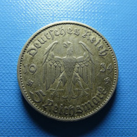 Germany 5 Reichsmark 1934 J Silver - [ 4] 1933-1945: Derde Rijk