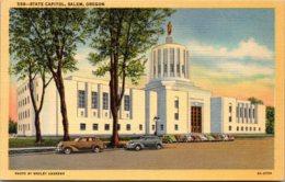 Oregon Salem State Capitol Curteich - Salem