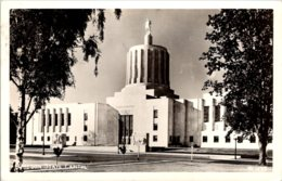 Oregon Salem State Capitol 1949 Real Photo - Salem
