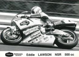 Eddie Lawson Sur Moto NSR 500 Cc Rothmans Honda Team - Deportes