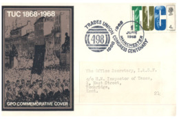 (156) UK - FDC Cover - 1968 - TUC - 1952-1971 Dezimalausgaben (Vorläufer)