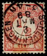 "NTH SC #34 U 1876 Numeral Of Value W/SON ""SCHEVENINGEN/2 M?? 89"" CV $0.30 - Used Stamps"
