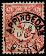 "NTH SC #34a U 1876 Numeral Of Value W/SON ""APPINGEDAM/26 OCT 92"" W/perf Flts TL CV $0.50 - Oblitérés"