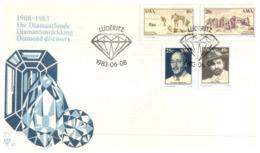 (162) 1980 FDC Cover - Diamond Discovery - Professioni