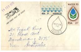 (162) 1970 FDC Card - Water Conservation / Saving - Umweltschutz Und Klima