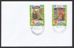Laos 2014 Mi 2258 – 2259 Oveerprint Wrong Value - Laos