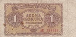 Tchécoslovaquie - Billet De 1 Koruna - 1953 - Czechoslovakia