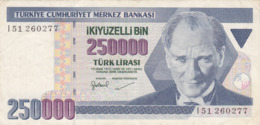 Turquie - Billet De 250000 Lira - Turchia