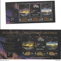 Isle Of Man Blok Nr 41 + Millennium Midnight Kaart  ** - Man (Ile De)