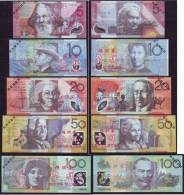 (Replica)China BOC (bank Of China) Training/test Banknote,AUSTRALIA Dollars C Series 5 Different Note Specimen Overprint - Vals En Specimen