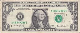 Etats-Unis D'Amérique - Billet De 1 Dollar - George Washington - Boston A - 2001 - Federal Reserve (1928-...)