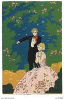 "Illustrateur: G. MESCHINI - Violon ""Ars Nova"" - Couple -Dipinta A Mano / Peint à La Main - Aquarelle - Circulé - 2 Scans - Illustratoren & Fotografen"