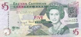 Antilles Britanniques - Billet De 5 Dollars - Elizabeth II - Non Daté (2008) - P47a - Oostelijke Caraïben
