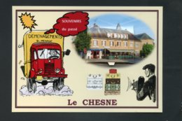 08   Le  CHESNE   ... Carte Systeme 8 Vues - Le Chesne