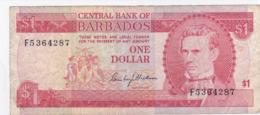 Barbades - Billet De 1 Dollar - Samuel Jackman Prescod - Non Daté - Barbados