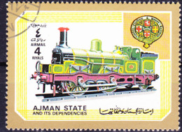 Ajman - Tenderlok Der London, Chatham & Dover Railway (GB) (MiNr. 1855) 1972 - Gest Used Obl - Adschman