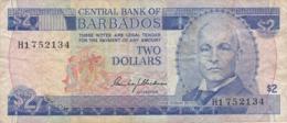 Barbades - Billet De 2 Dollars - John Redman Bovell - Non Daté - Barbades