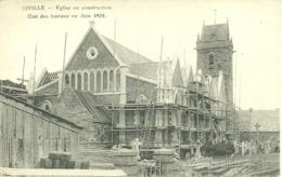 50  BIVILLE - EGLISE EN CONSTRUCTION - ETAT DES TRAVAUX EN JUIN 1924 (ref 6499) - France